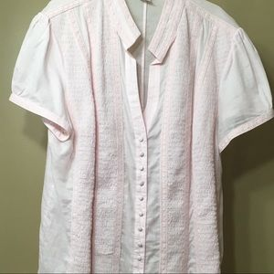 Nygard Collection - Soft pink button up blouse